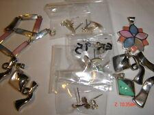 Solid Sterling Silver Bulk Lot of Quality 15 Mixed Pendants,Ear Rings+ Bracelet