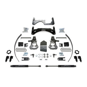 "Fabtech K1068M 6"" Lift Kit w/ Rear Stealth Shocks for Silverado/Sierra 1500 4WD"