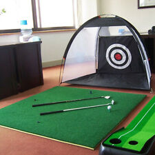3m Foldable Golf Driving Cage Practice Hitting Net Indoor Outdoor Home Garden