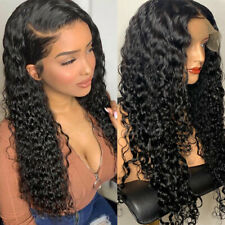 13x6 Lace Front Wig New Pre Plucked Natural Indian Virgin Human Hair Wigs Curly