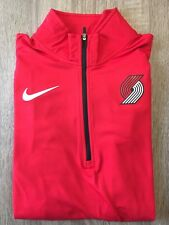 NWT Women's Nike Portland Trailblazers (Lg) Dri-Fit Long Sleeve 1/4 Zip Pullover