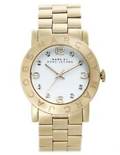 Marc by Marc Jacobs MBM3056 Women's Amy Crystal Accented White Dial Gold Watch