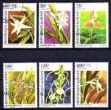 Flore - Orchidées Bénin (8) série complète de 6 timbres oblitérés