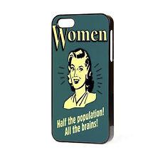 Mujer todos los cerebros Vintage Girly teléfono caso encaja IPHONE 4 4S 5 5S 5C 6 Gratis P&P