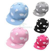 Baby Kids Boys Girls Clouds Hip-Hop Baseball Cap Snapback Adjustable Peaked Hat