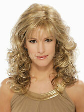 Blonde Side Parting Fashion Heat-resistant Fiber Womens Medium Wig