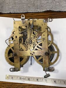 Antique Sessions Time And Strike Clock Movement With Hands