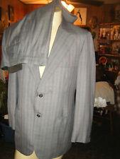 Vintage 70s Mens Bloomingdales Gray Blue & Red Striped Suit sz 42L Pants 39 x 32