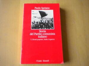 Storia del partito comunista italiano 5 Spriano Libro comunismo Stalin Nuovo