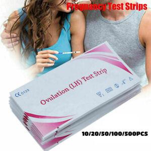 10/20/50/100/500pcs Ovulation LH Test Strip Pregnancy Urine Detection Sticks