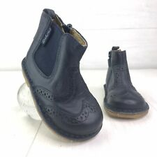 Naturino Infant Toddler Kids Navy Leather Wingtip Chelsea Boots  Size EU 20 US 5
