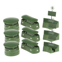 Army Men Accessories -9PCS Military Blockhouse Radar Model Toy Soldiers Kits