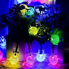 Solar Outdoor 20ft 30LED Multi Color Fairy Bubble Crystal Ball Christmas Lights