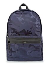 MICHAEL KORS MENS KENT NYLON ARMY INDIGO CAMOFLAUGE BACKPACK BOOKBAG