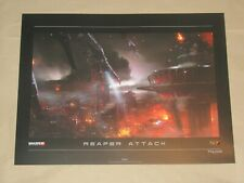 Mass Effect 3 Reaper Attack N7 Foil Lithograph Limited Numbered Rare 2 Collector