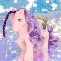 Vintage My Little Pony PRINCESS DAWN Purple Tinsel Hair Pink Jewel G1 MLP BO322
