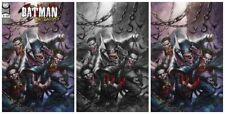 BATMAN WHO LAUGHS #1 LUCIO PARRILLO TRADE/BW/VIRGIN VARIANT SET LTD TO 1000 SETS