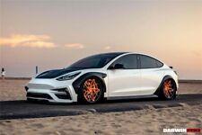 DarwinPro Model 3 IMPII Style Carbon Fiber Full Wide Body Kit For Tesla