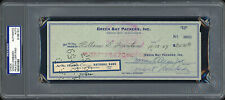 Vince Lombardi Autographed Signed 3.5x8.5 Check Packers PSA/DNA #81881501
