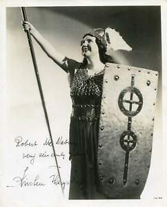 OPERA SINGER Kirsten Flagstad autograph, signed vintage photo