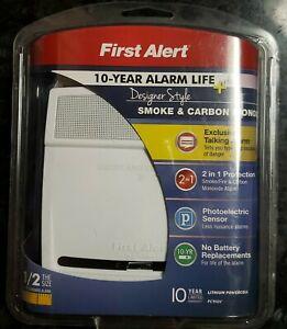 First Alert PC910V 2-In-1 Smoke & Carbon Monoxide Alarm-10yr Life-Designer Style
