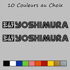 2 Stickers Logo Yoshimura Decal YOS05 Akrapovic Öhlins Shoei Couleurs au choix
