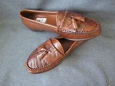 Vintage 90s Bruno Magli genuine crocodile & leather Brant shoes 8M Italy Unused