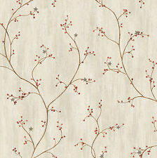 Grey Star Berry Vine Wallpaper Pur44031 Make Me Offer For Lowest Price