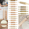 3D Christmas Embossing Wooden Rolling Pin Baking Professional Dough Roller Lot