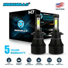 4 Sides H7 LED Headlight Bulbs for Yamaha YZF-R6 03-15 YZF-R1 07-14 Motorcycle