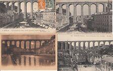 Lot 4 cartes postales anciennes MORLAIX le viaduc 2