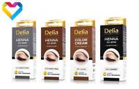 HENNA Tint DELIA COLOUR CREAM FOR EYEBROWS BLACK DARK BROWN BROWN 15ml Eyelash