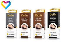 HENNA Tint DELIA COLOUR CREAM FOR EYEBROWS BLACK DARK BROWN BROWN 15ml