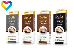 DELIA HENNA Tint COLOUR CREAM FOR EYEBROWS BLACK DARK BROWN BROWN 15ml