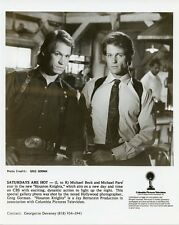 MICHAEL BECK MICHAEL PARE PORTRAIT HOUSTON KNIGHTS ORIGINAL 1987 CBS TV PHOTO
