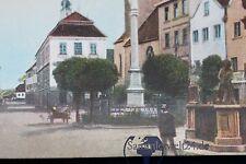 alte AK Weilheim Brunnen  Kirche 1915