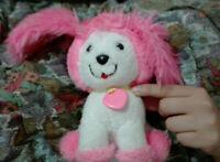 VINTAGE Pink & White CUCCIOLO Poochie 1982 mattel rare bambola cane dog rosa