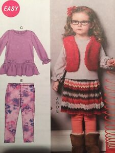 McCall's Sewing Pattern M6780 Toddler Vest Top Dress Skirt Size 1-4 Uncut 2013