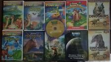 11 LAND BEFORE TIME & KID'S DINOSAUR DVD LOT DISCOVERY CHANNEL WALKING W/ DINOS