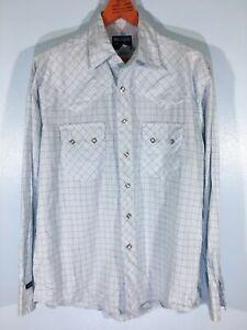 Wrangler American Western Folk 70s Cowboy Yoke Button Snap Sawtooth Shirt M