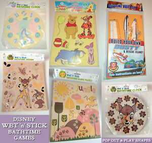 DISNEY BABY BATH CLOCK / JIGSAW PUZZLE Simba DUSTY PLANE Dumbo WINNIE POOH Bambi