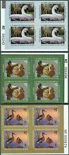 USA : 2001-02, 04. Scott #JDS9-10, 12 P/Bs. Junior Duck stamps. Fresh & VF MNH