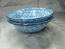 """Royal Cumberland Copenhagen TOWN & COUNTRY Blue Set of 2-6 3/8"""" Cereal Bowls EC"""