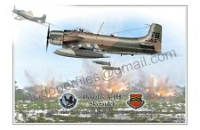 "Douglas A-1H  ""Skyraider"" - Airplane Poster Profile"