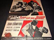 TU N'EST PAS JOUER joan crawford  affiche cinema 1965