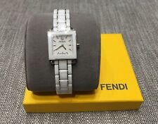 FENDI F622240 WOMEN'S WATCH QUARTZ WHITE CERAMIC STAINLESS SAPPHIRE SWISS