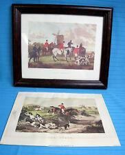 W Shayer Prints The Meet & The Kill Rare Fox Hunt Dogs Engraved by C R Stock