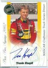 2002 PRESS PASS NASCAR/RACING Travis Kvapil ON-CARD AUTOGRAPH/AUTO CRAFTSMAN SRS