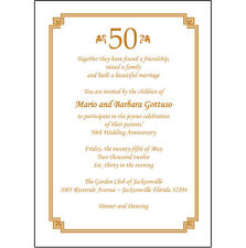 25 Personalized 50th Wedding Anniversary Party Invitations  - AP-009