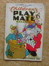 Children´s Play Mate Magazine, December, AR Mueller Printing, Vol. 9, No 7, 1937
